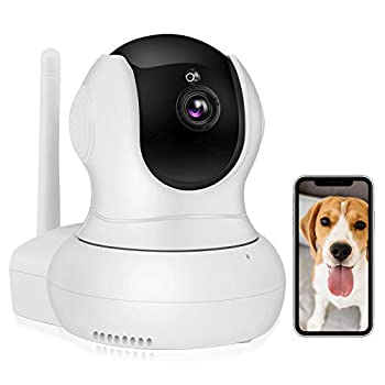 Nanny Camera,TSW 1080P HD Wireless IP Camera with Night Vision/2-Way Audio Pan/Tilt WiFi Indoor Home Dome Pet Baby Cam Surveillance Monitor with Phone App