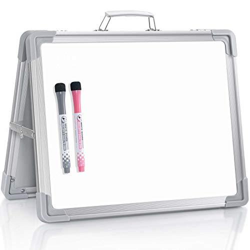 Kleines Whiteboard mit trocken abwischbarer Staffelei für den Schreibtisch, 30,5 x 38,1 cm, magnetisch, faltbar, für Lehrer, Anleitung für Kinder, Zeichnen