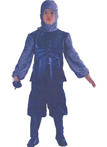 CARNIVAL TOYS S.R.L. Chevalier Noir médiéval 12/13 Ans Deguisement Costume Enfant
