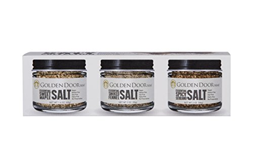 Golden Door Farms 3-pack Essential Salt Collection, gourmet salts, flavored salt sampler, 3...