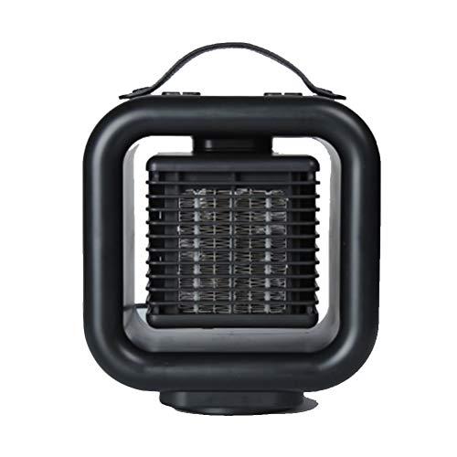Calefactor Eléctrico, Calefactor de Aire Caliente Cerámico Calentador de Espacio Portátil, 3 Modos, Termostato Regulable, Protección sobrecalentamiento, Sensor Antivuelco, 45° Oscilante, 1000 W
