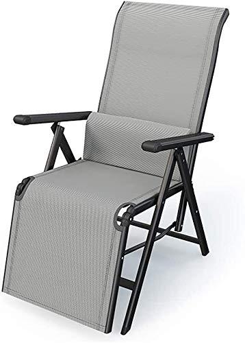 Plegable reclinable Exterior, Tumbona Regulable, terraza reclinable, Tela Teslin, Respaldo Curvado Ajustable