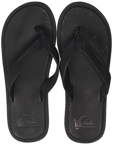 Quiksilver Molokai Nubuck II, Zapatos de Playa y Piscina Hombre, Negro (Solid Black Sbkm), 40 EU