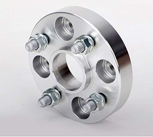 2 / 4PCS 20/25 / 30/35/40 mm PCD 4x108 65.1mm espaciador de la rueda adaptador for Citroen C-Elysée C2 / C3 / C3-XR / C4 / C4L / C4 Cactus / DS3 / DS4 M12XP1.5 (tamaño : 2PCS 35mm Silver)