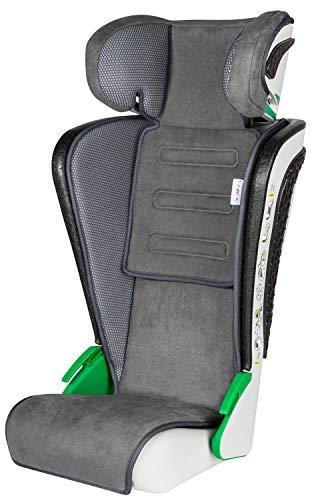 Walser Auto Kindersitz Noemi, klappbarer Kinderautositz mit höhenverstellbarer Kopfstütze, ECE R129 geprüft, mitwachsend 3-8 Jahre Anthrazit