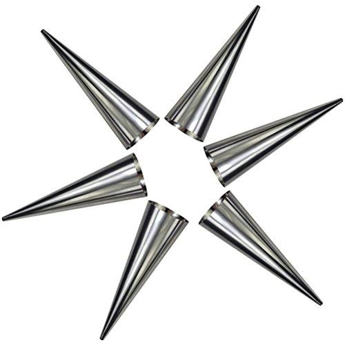 BESTOMZ moldes con forma de cono - Set de 6 Acero inoxidable