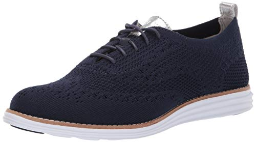 Cole Haan womens Originalgrand Stitchlite Wingtip Oxford, Blue, 10 US