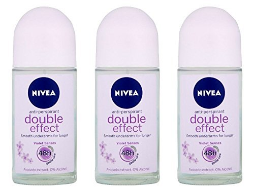 Nivea for Women Deodorant Roll On 1.69 oz - 3 Pack (Double Effect)