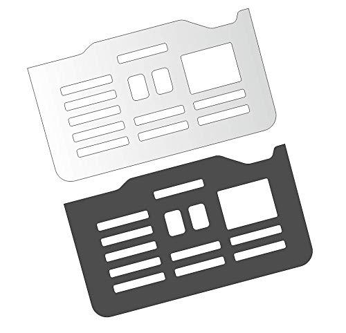 3 x Schutzfolie für DeLonghi PrimaDonna ESAM 6900 M & 6850 - Variante 2 - Abtropfblech - Tassenablage - Abstellblech
