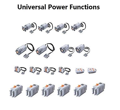 TETAKE Technik Power Function Set mit 8-Motor, 2 Fernbedienung, 4 Empfänger, 6 Batteriekasten, Kompatibel mit Liebherr-Kran Modell
