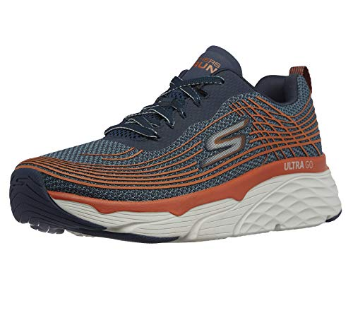 Skechers Men's Max Cushioning Elite-Performance Walking & Running Shoe Sneaker, Navy/Orange, 12