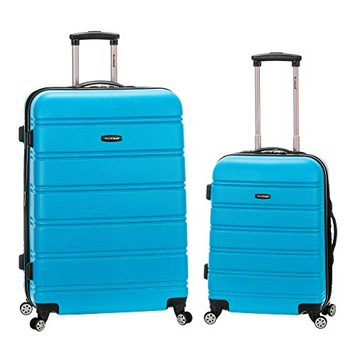 Rockland Melbourne Hardside Expandable Spinner Wheel Luggage, Turquoise, 2-Piece Set (20/28)