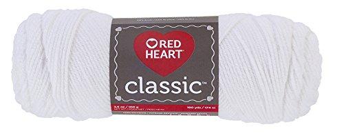 RED HEART Classic Yarn, White