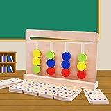 Qiuge Bebé de Juguete Montessori Cuatro Colores Juego de concordancia de Color for la educación de la Primera Infancia en Edad Preescolar de formación Juguetes de Aprendizaje QiuGe
