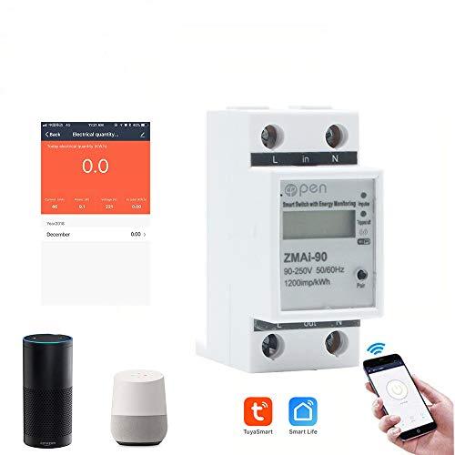 RS485 Contador eléctrico digital, 5 (60) A, 50 Hz, 60 Hz, contador...