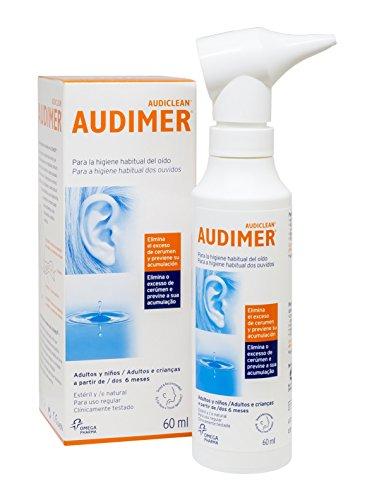 Audimer Spray Higiene Habitual del Oído Elimina Exceso de Cera y Previene la Acumulación de Cerumen Apto Uso Diario, 60 ml
