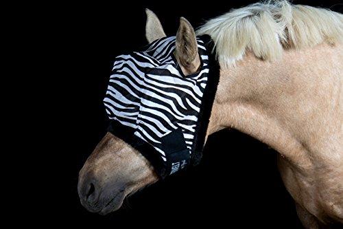 Wild Thing Zebra Fliegenmaske ohne Ohren (Pony)