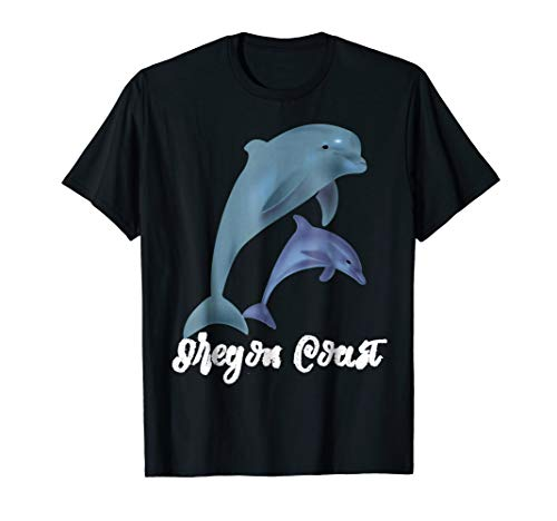 Oregon Coast Souvenir Dolphin PNW T-Shirt gift