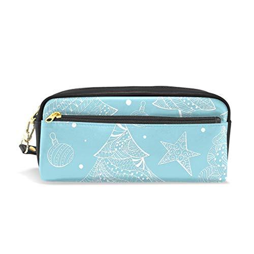 Estuche de gran capacidad para bolígrafos, cartera, abeto de Navidad, impermeable, bolsa de maquillaje para estudiantes o mujeres