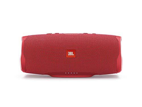 JBL Charge 4 Bluetooth-Lautsprecher in Rot – Wasserfeste, portable Boombox mit integrierter Powerbank – Mit nur einer Akku-Ladung bis zu 20 Stunden kabellos Musik streamen