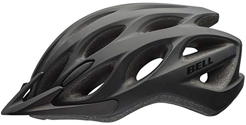 BELL Tracker Helmet - Matt Black, Unisize/Unisex Bicycle Cycling Cycle Bike Mountain Road Ride Protective Shell Hat Head Skull Safety Guard Trail MTB Commute Riding Cool Breathable Lid