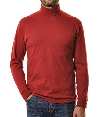 RAGMAN Rollkragen Pullover Baumwoll-Jersey 44, Weinrot-061