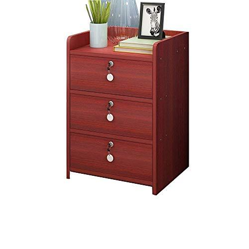 Papperstillbehör Wghz Sängbord Sovrumssängskåp med lås Arkivskåp Mini-montering Sidoskåp Hörnskåp (Färg: Gul Storlek: En storlek)