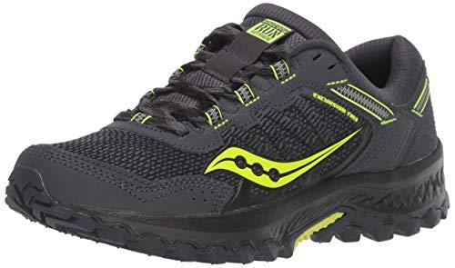 Saucony Excursion TR 13, Zapatillas de Trail Running Hombre, Gris (Gris Y Amarillo 3), 41 EU
