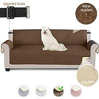 TAOCOCO Funda de sofá Impermeable Funda de cojín de protección para Mascotas Funda de sofá antisuciedad (Marrónl/ 4 Plazas 195 * 218cm)