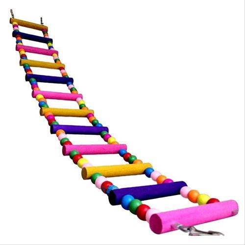 tianxiangjjeu Vogel Huisdier Speelgoed Ladder Multi kleuren Klimmen Bijt Swing Cage Decoratie, 31cm/12.2inch