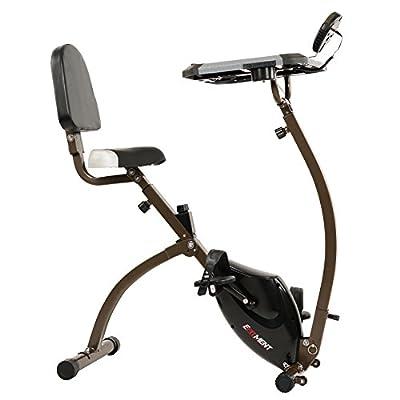 EFITMENT Folding Desk Bike, Semi Recumbent Workstation Exercise Bike for Laptop (B027)