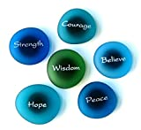 The Mermaid's Message Magnets: Inspiring Words on Frosted Sea Glass Magnets. By Lifeforce Glass. Set I