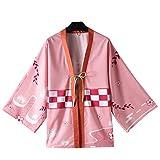 ELBCOS Unisex Cosplay Costume Japanese Anime Kill Demon Sword Butterfly Kimono Style Haori Cloak (One Size, Pink)
