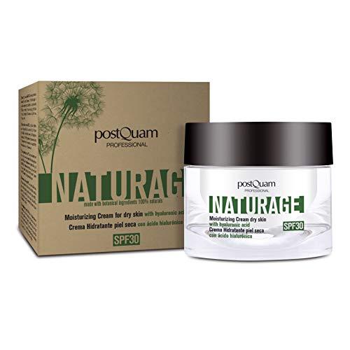 Postquam - Naturage | Crème Hydratante Visage - Peau Sèche 100% Ingrédients naturels, Creme Solaire Visage 30-50 ML