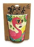 Kontiki - Vaso de bambú con estampado flamenco rosa (250 ml)