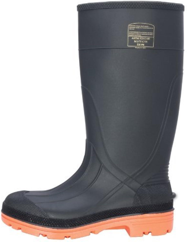 Honeywell Safety Safety Safety 75C -10 North PRM PVC Safety Hi Boot for herrar, Storlek -10, svart  orange av Honeywell  populär