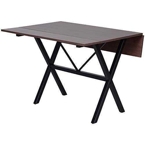 HOMCOM Mesa de Comedor Extensible con 3 Maneras de Uso Mesa Plegable para Salón Cocina Rectangular de 109 cm