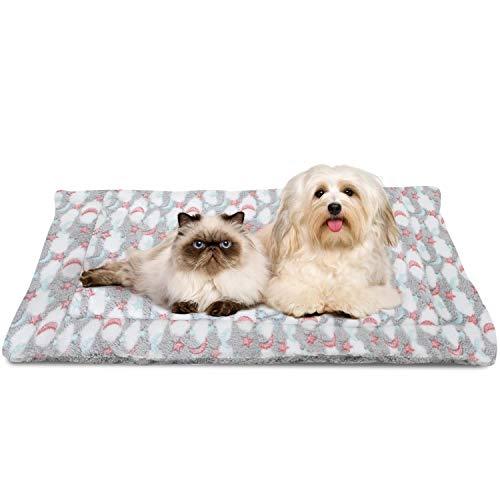 Nobleza Cama para Perros, colchoneta para Mascotas, Pata pequeña impresión paño Grueso y Suave Manta Suave Estera del Animal doméstico, Lavable (Talla:S,Gris)