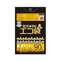 サンキョウプラテック エコ袋 90L 0.045厚 黒 10枚入×30冊 LMN-92