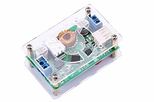 DC-DC instelbaar 6-32 V 1,5-32 V Buck spanningsomvormer stabilisator Step Down spanningsreductor regelaar Power Supply Module met beschermhoes USB-uitgang constant v Amp 6 V 12 V 24 V spanning ampère LCD-display voor LED-drivers wisselen