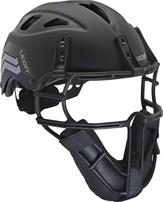 Worth Legit Softball Pitcher's Mask, Black