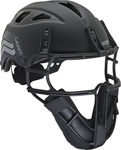 Worth Legit Slowpitch Softball Pitcher's Mask, Black