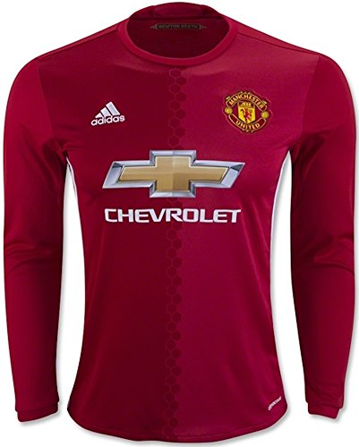 Adidas Men's Soccer Jersey Manchester United Red Long Sleeves MSRP $100 (XL)