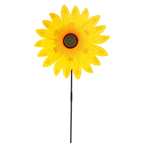 SM SunniMix Colorful Pinwheels - Sunflower Windmills Suitable for Garden,...