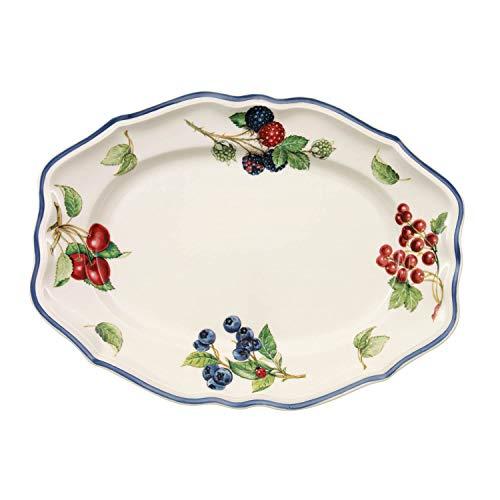 Villeroy & Boch Cottage Plat de service, 30 cm, Porcelaine Premium, Blanc/Multicolore