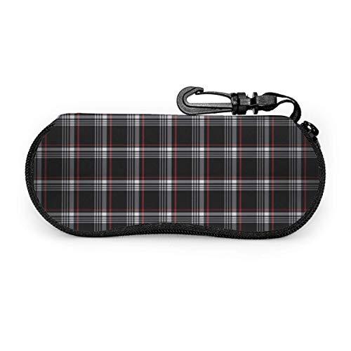 Fundas de gafas Tela escocesa de golf Ultra Ligero Neopreno con Cremallera Almacenaje Lente Suave Sunglasses Case