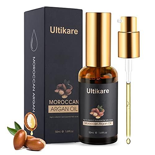 Hair Oil, Ultikare Argan Oil for Curly, Dry and Damaged...