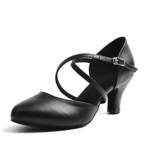 Naudamp Mujer Zapatos de Baile de salón de Baile Latino Correa Cruzada Salón Moderno Tango Vals Zapatos de Baile
