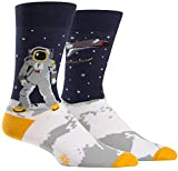 Sock It To Me Men's One Giant Leap Crew Socks