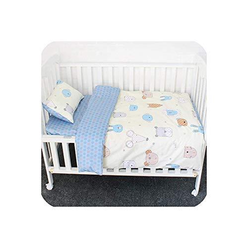 5 piezas Juego de cama con parachoques grueso para 140x70 Cm Bebé Cuna Cama-patrón 5